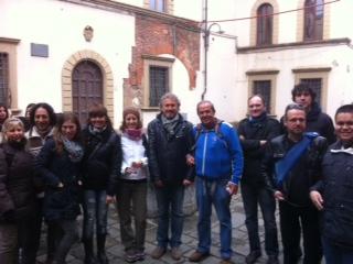 Fantozzi con i volontari Shalom